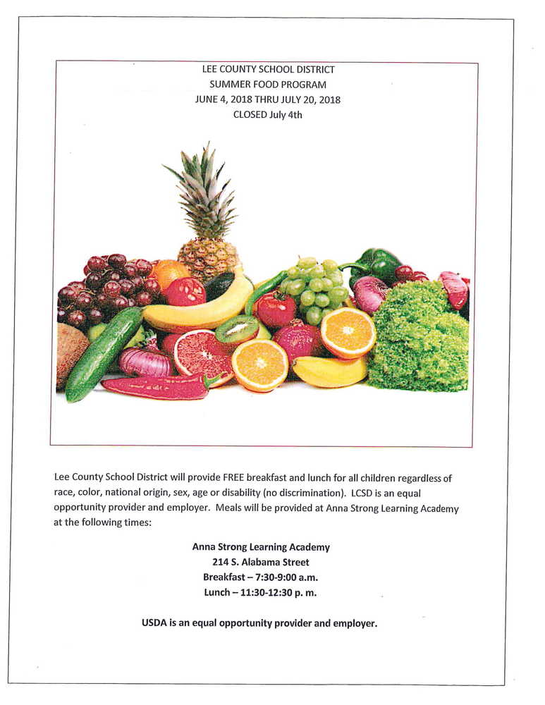 LCSD Summer Food Program